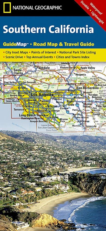 Southern California Road Map & Travel Guide GM08